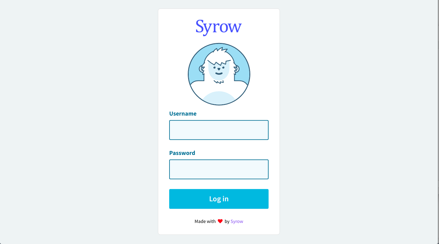 Syrow Portal Login